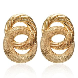 New alloy 8 word spray painted earrings NHPF147200's discount tags