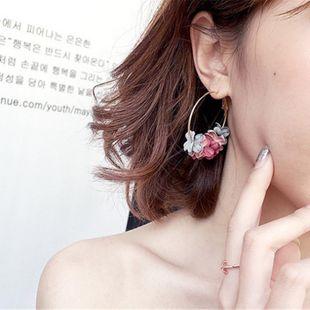 New flower alloy hoop earrings NHPF147201's discount tags