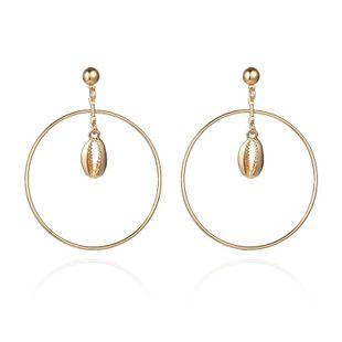 Fashion new circle alloy shell earrings NHPF147203's discount tags
