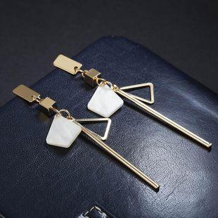 Simple geometric alloy long earrings NHPF147204's discount tags