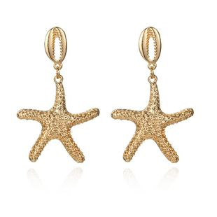 New alloy starfish shell earrings NHPF147205's discount tags