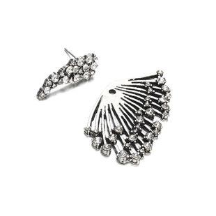 New alloy rhinestone wings stud earrings NHPF147206's discount tags