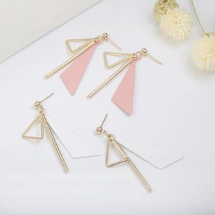 Simple alloy triangle earrings NHPF147208's discount tags