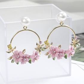Sweet new flower beads earrings NHPF147209