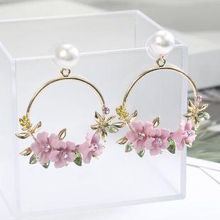 Sweet new flower beads earrings NHPF147209's discount tags