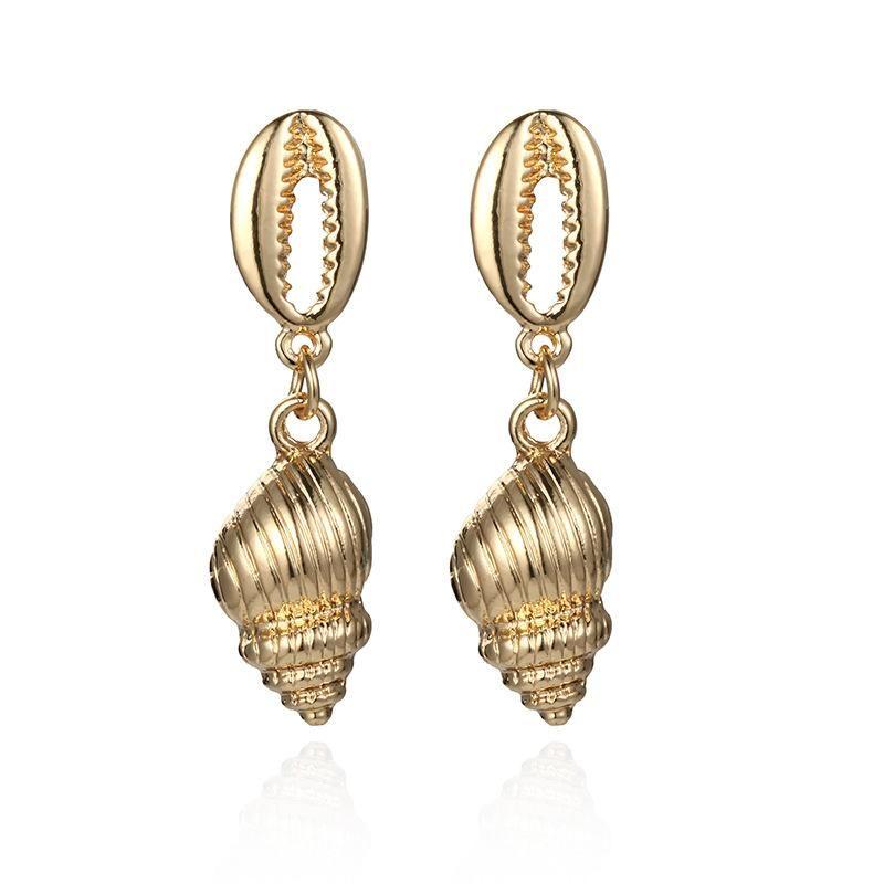 New alloy conch shell earrings NHPF147216