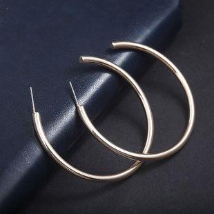 Minimal retro large alloy hoop earrings NHPF147220's discount tags