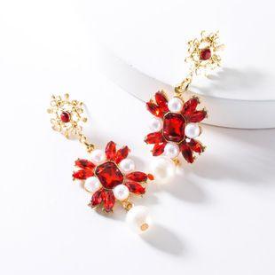 Fashion Rhinestone Flower Beads Earrings NHJE147221's discount tags