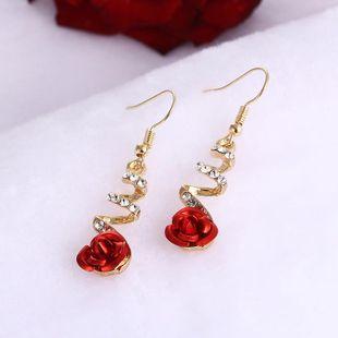 New rhinestone-studded earrings NHPF147223's discount tags