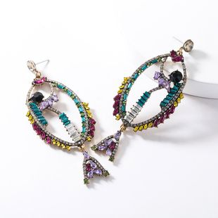 New fashion rhinestone-encrusted tropical fish earrings NHJE147228's discount tags