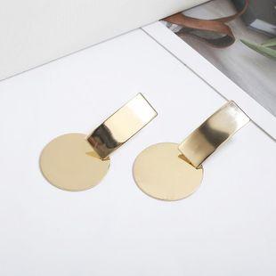 Simple strip metal earrings NHPF147229's discount tags