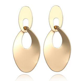 Fashion Metal Hollow Disc Earrings NHPF147232's discount tags