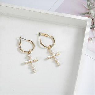 New beads cross earrings NHPF147234's discount tags
