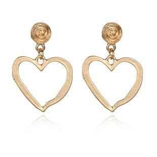 Fashion alloy heart-shaped earrings NHPF147235's discount tags