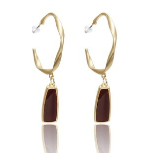 Simple alloy C-shaped earrings NHPF147238's discount tags