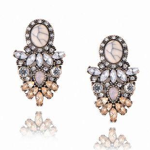Vintage Rhinestone Cracked Stone Earrings NHPF147240's discount tags