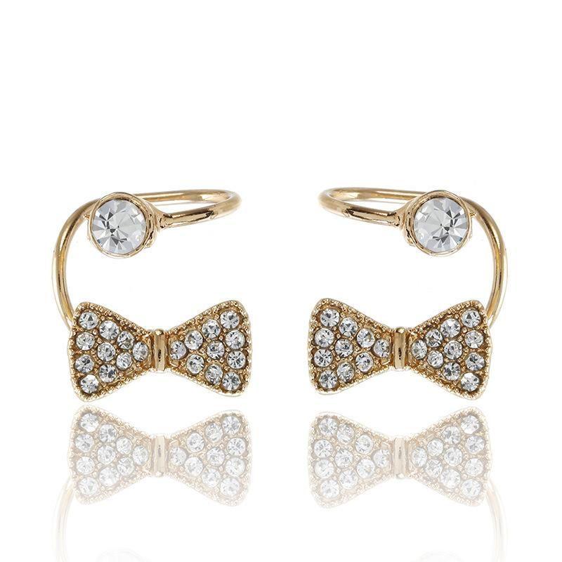 Simple fashion ear cuff bow U-shaped clip earrings NHPF147244