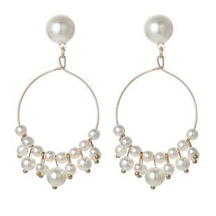 Fashion beads big hoop earrings NHPF147247's discount tags
