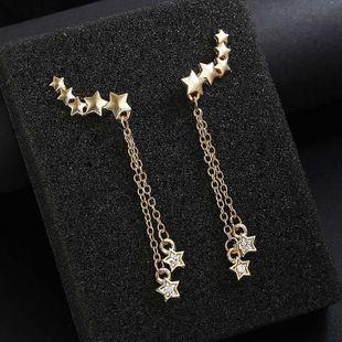 Fashion geometric stars openwork alloy earrings NHPF147248's discount tags