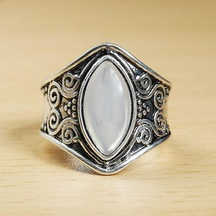 Vintage Moonstone Stone Thai Alloy Ring NHPF147253's discount tags