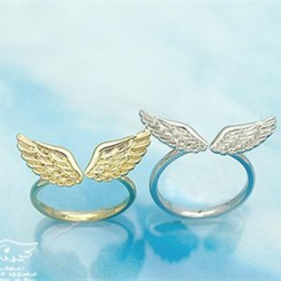 Simple Angel Wings Alloy Open Ring NHPF147257's discount tags