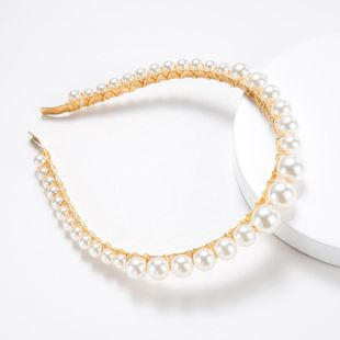 Simple and fashionable alloy beads headband NHJE147261's discount tags