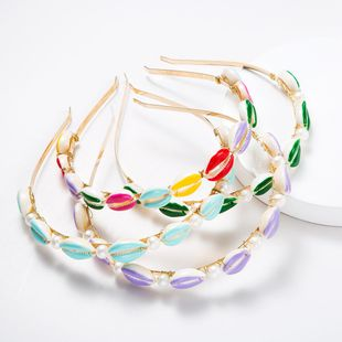Fashion fresh alloy beads shell headband NHJE147263's discount tags