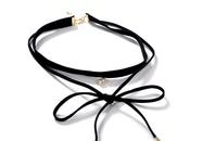 Fashion layered bow choker NHLL147010