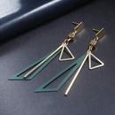 Simple long triangle alloy earrings NHPF147183