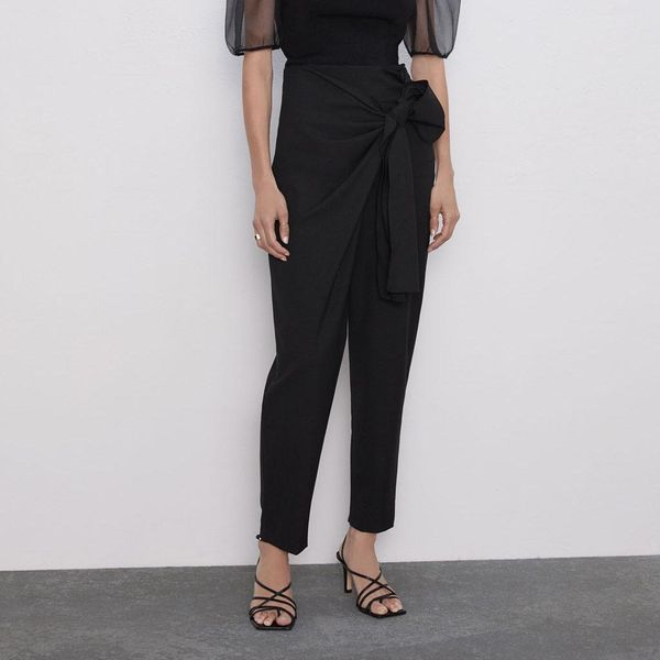 High waist loose trousers with wide-leg pants NHAM147365