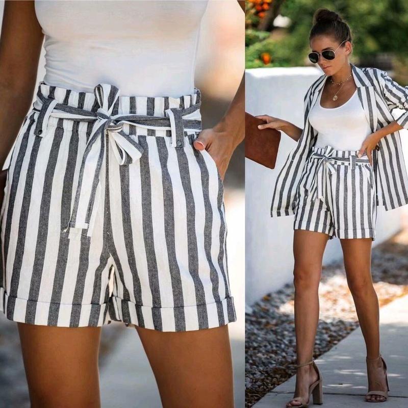 Autumn striped tie suit shorts NHAM147397