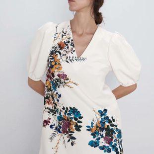 Autumn flower print dress NHAM147434's discount tags