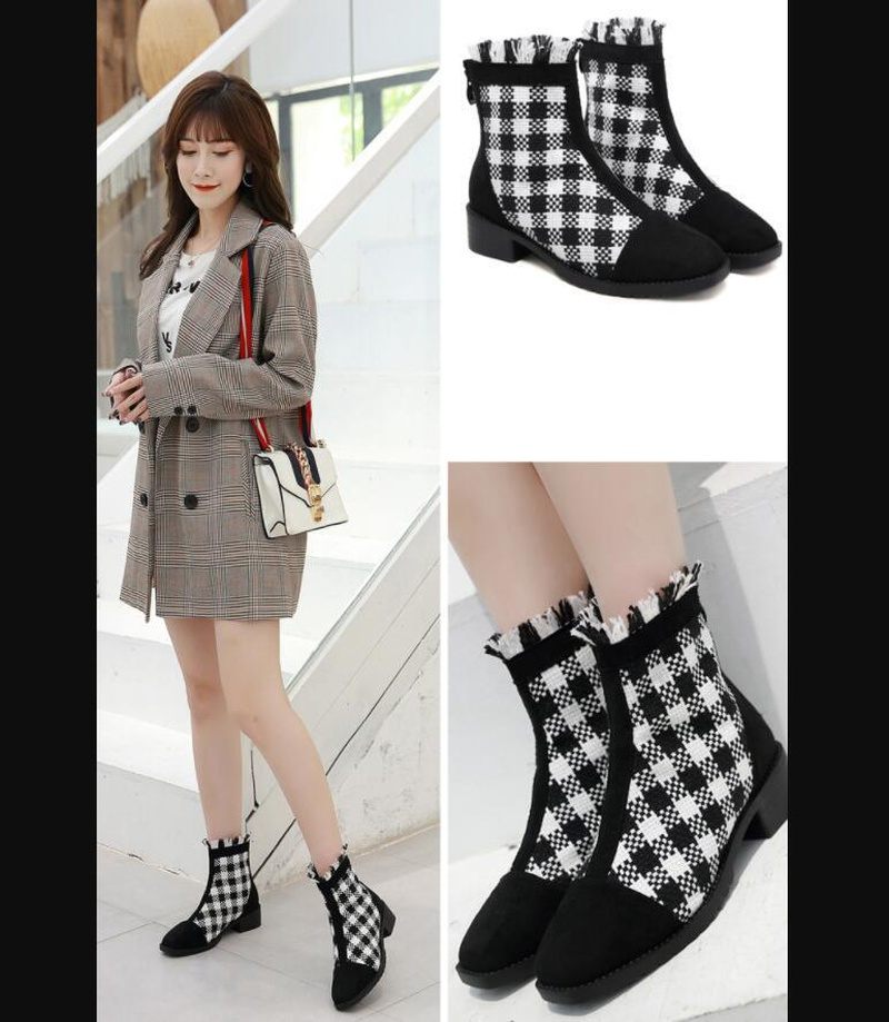 Vintage fashion ankle boots with thick  boots NHSO147458