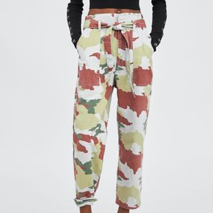 Fashion camouflage paper bag pants overalls NHAM147477's discount tags
