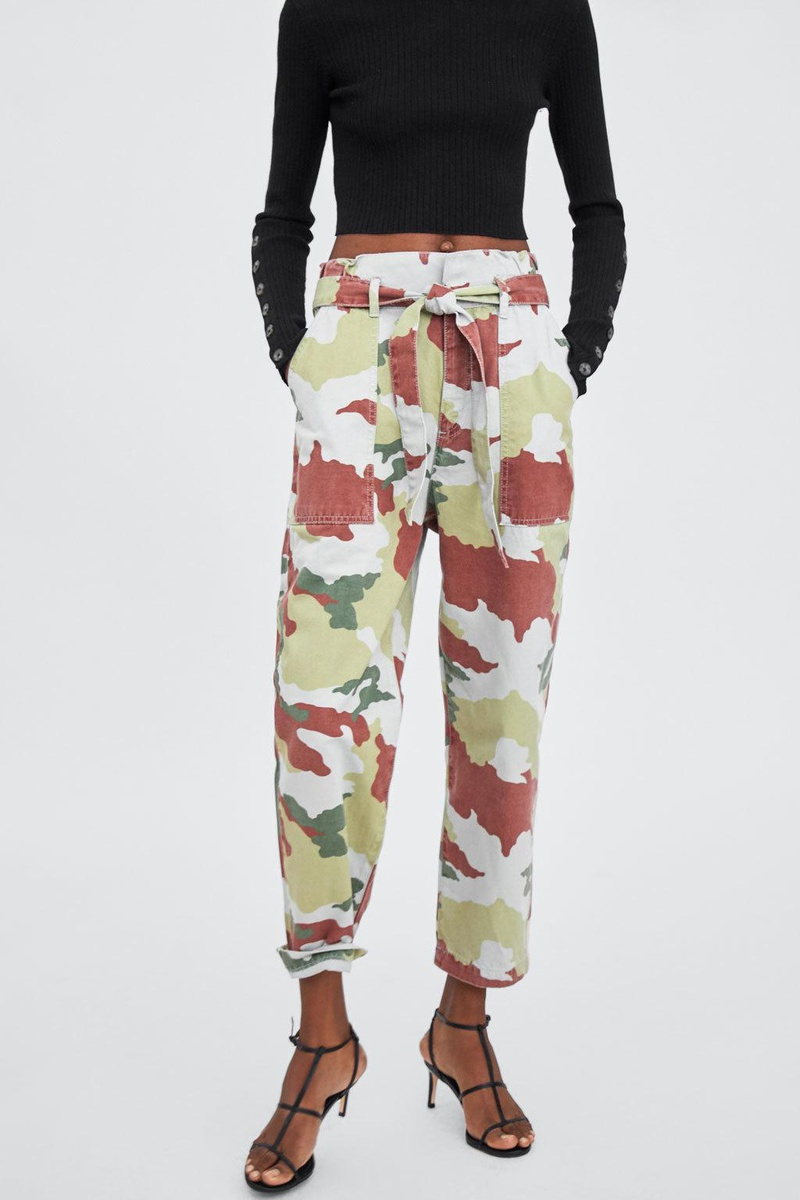 Fashion camouflage paper bag pants overalls NHAM147477
