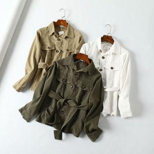 Autumn sand wash worn pocket tooling shirt jacket NHAM147512's discount tags