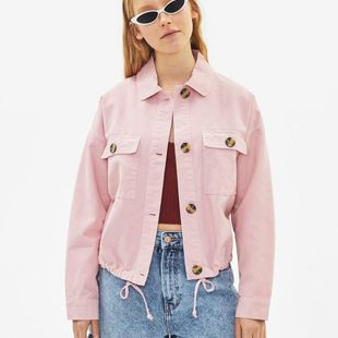 Fashion pleated lapel short  jacket NHAM147539's discount tags