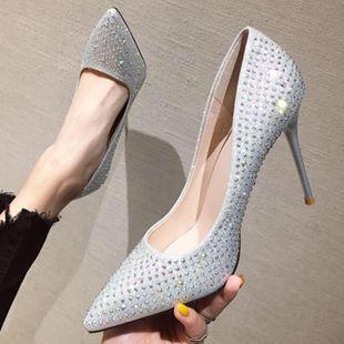 Fashion stiletto pointed rhinestone wedding shoes NHSO147548's discount tags