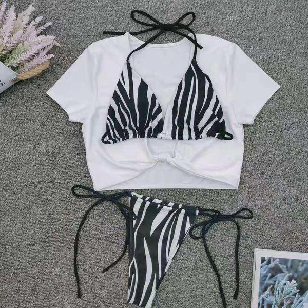 New striped straps 3 pics set bikinis NHNM147662