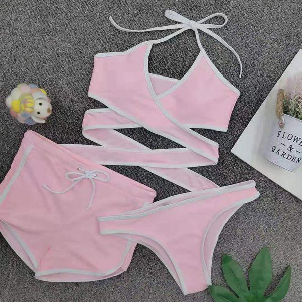 New pink bikinis 3 pics set NHNM147664