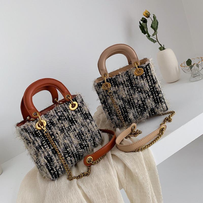 New simple rhombic chain handbag side shoulder bags NHPB147703
