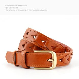 New women hand-inlaid pattern hollow pin buckle belt NHPO147712's discount tags