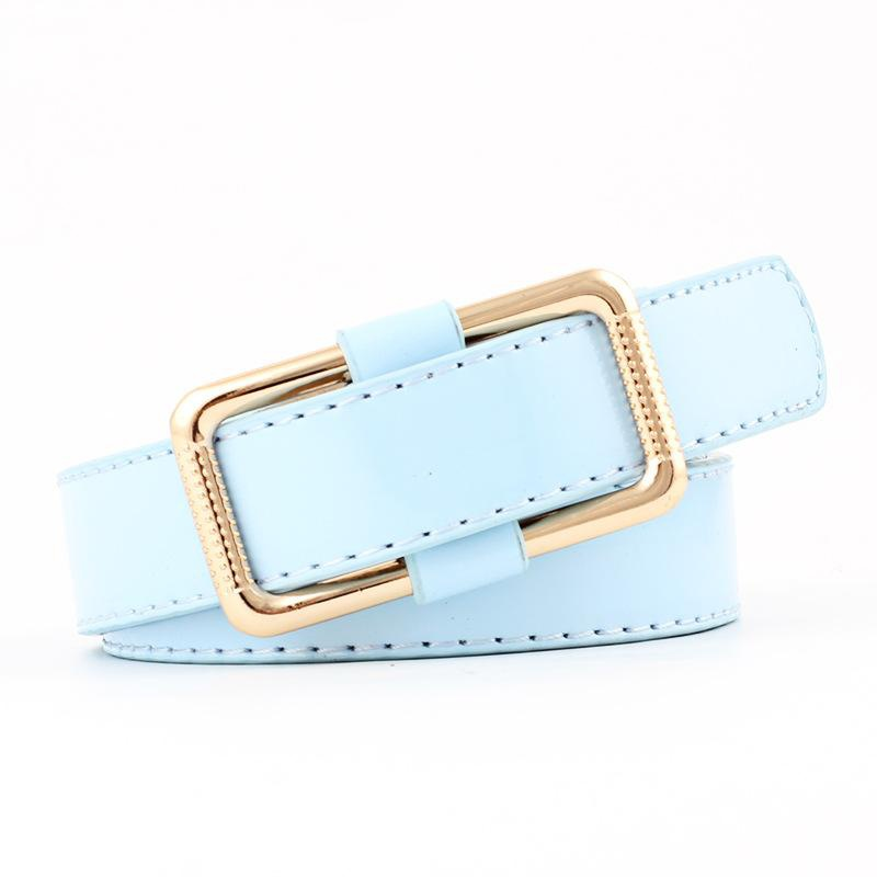 Cute candy color smooth buckle women belts NHPO147715