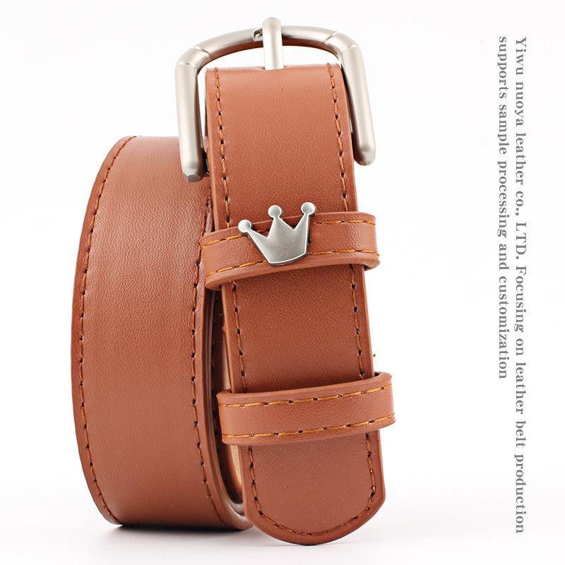 Fashion crown alloy pin buckle women belt NHPO147721
