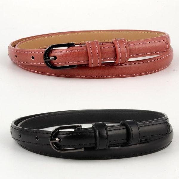 Fashion pin buckle imitation leather hollow women belt NHPO147722