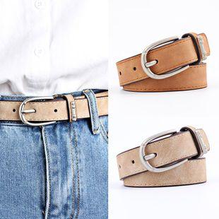 Sleek minimalist alloy buckle belt NHPO147723's discount tags