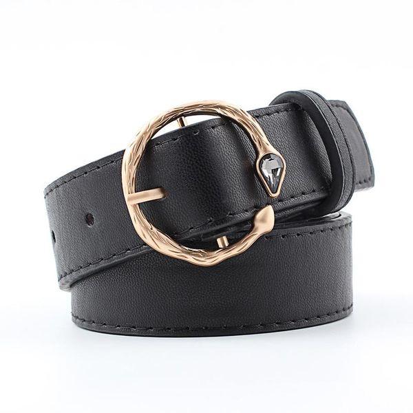 New retro inlaid gem metal buckle women belt NHPO147727