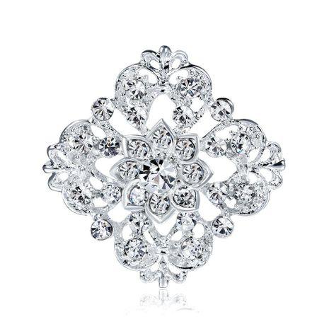 Fashion rhinestone-shaped rhinestone wreath brooch NHDR147798's discount tags