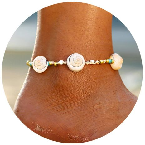 Creative minimalist retro three snail shell anklet bracelet NHPJ147835's discount tags