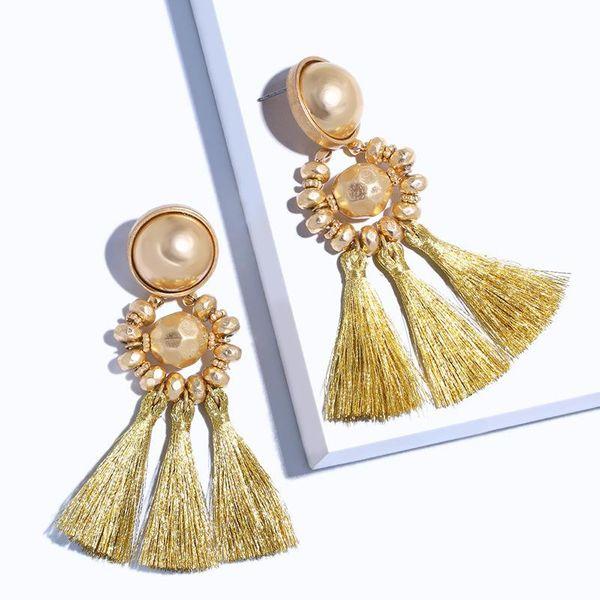 Vintage bohemian tassel earrings NHAS147839